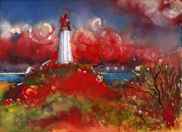 Harald Hoffmann de Vere - Leuchtturm mit Dornbusch